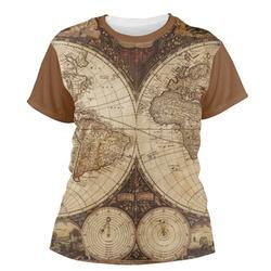 Vintage World Map Women's Crew T-Shirt