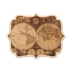Vintage World Map Genuine Wood Sticker