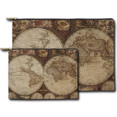 Vintage World Map Zipper Pouch