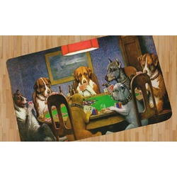 Dogs Playing Poker 1903 C.M.Coolidge Area Rug