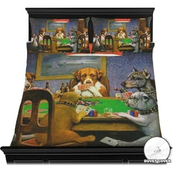 Dogs Playing Poker 1903 C.M.Coolidge Duvet Cover Set