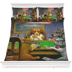 Dogs Playing Poker 1903 C.M.Coolidge Comforter Set - Full / Queen
