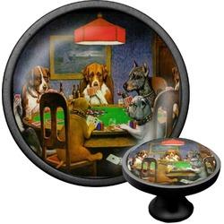 Dogs Playing Poker 1903 C.M.Coolidge Cabinet Knob (Black)