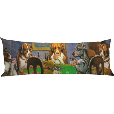 Dogs Playing Poker 1903 C.M.Coolidge Body Pillow Case