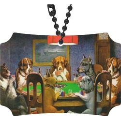 Dogs Playing Poker 1903 C.M.Coolidge Rear View Mirror Ornament