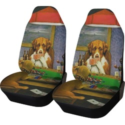 Dogs Playing Poker 1903 C.M.Coolidge Car Seat Covers (Set of Two)