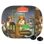 Dogs Playing Poker by C.M.Coolidge Car Side Window Sun Shade