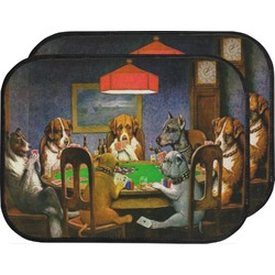 Dogs Playing Poker 1903 C.M.Coolidge Car Floor Mats (Back Seat)