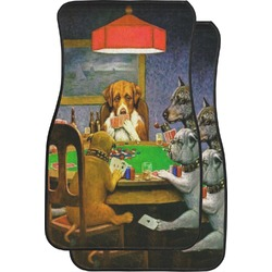 Dogs Playing Poker 1903 C.M.Coolidge Car Floor Mats (Front Seat)