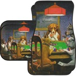 Dogs Playing Poker by C.M.Coolidge Car Floor Mats