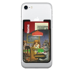Dogs Playing Poker by C.M.Coolidge 2-in-1 Cell Phone Credit Card Holder & Screen Cleaner
