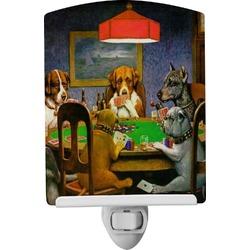 Dogs Playing Poker 1903 C.M.Coolidge Ceramic Night Light