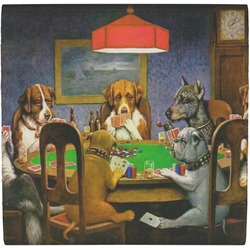 Dogs Playing Poker 1903 C.M.Coolidge Ceramic Tile Hot Pad
