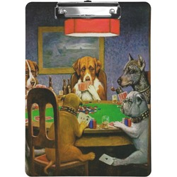 Dogs Playing Poker 1903 C.M.Coolidge Clipboard