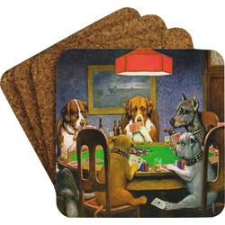 Dogs Playing Poker 1903 C.M.Coolidge Coaster Set