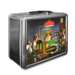 Dogs Playing Poker 1903 C.M.Coolidge Lunch Box