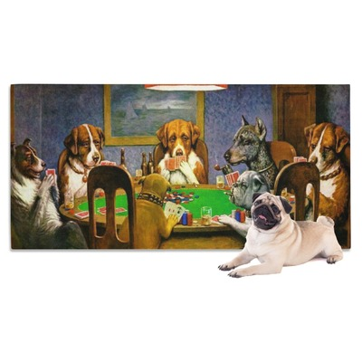 Dogs Playing Poker by C.M.Coolidge Dog Towel