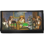 Dogs Playing Poker by C.M.Coolidge Canvas Checkbook Cover