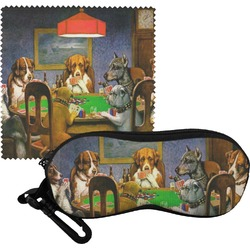 Dogs Playing Poker 1903 C.M.Coolidge Eyeglass Case & Cloth