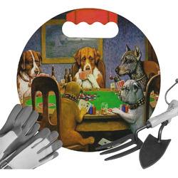 Dogs Playing Poker 1903 C.M.Coolidge Gardening Knee Cushion