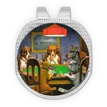 Dogs Playing Poker 1903 C.M.Coolidge Golf Ball Marker - Hat Clip