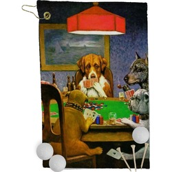 Dogs Playing Poker 1903 C.M.Coolidge Golf Towel - Full Print