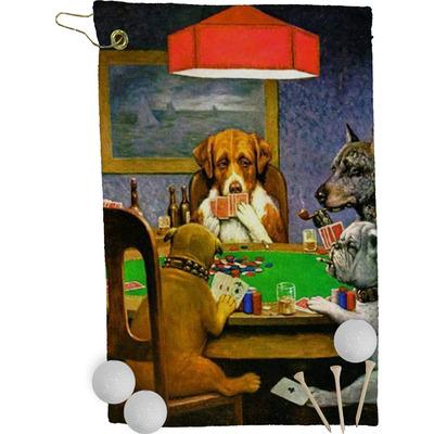 Dogs Playing Poker 1903 C.M.Coolidge Golf Towel - Full Print