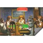Dogs Playing Poker 1903 C.M.Coolidge Indoor / Outdoor Rug