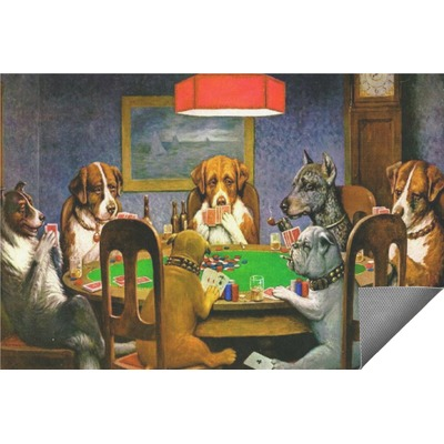 Dogs Playing Poker 1903 C.M.Coolidge Indoor / Outdoor Rug