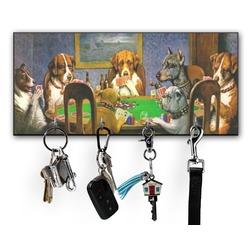 Dogs Playing Poker 1903 C.M.Coolidge Key Hanger w/ 4 Hooks