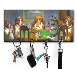 Dogs Playing Poker by C.M.Coolidge Key Hanger w/ 4 Hooks