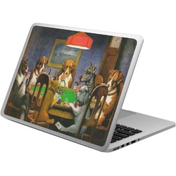 Dogs Playing Poker 1903 C.M.Coolidge Laptop Skin - Custom Sized
