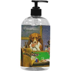 Dogs Playing Poker by C.M.Coolidge Plastic Soap / Lotion Dispenser (16 oz - Large)