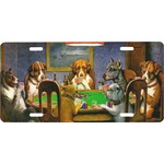 Dogs Playing Poker 1903 C.M.Coolidge Front License Plate