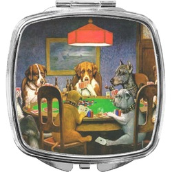 Dogs Playing Poker 1903 C.M.Coolidge Compact Makeup Mirror