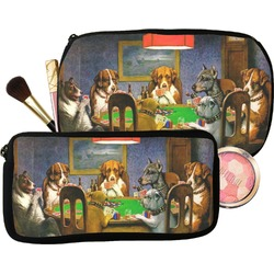 Dogs Playing Poker 1903 C.M.Coolidge Makeup / Cosmetic Bag