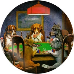 Dogs Playing Poker 1903 C.M.Coolidge Melamine Plate