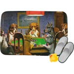 Dogs Playing Poker 1903 C.M.Coolidge Memory Foam Bath Mat
