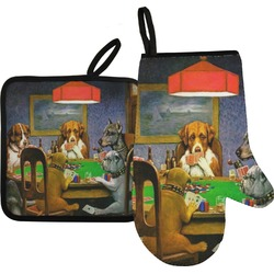 Dogs Playing Poker 1903 C.M.Coolidge Oven Mitt & Pot Holder
