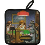 Dogs Playing Poker by C.M.Coolidge Pot Holder