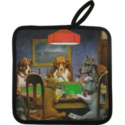 Dogs Playing Poker 1903 C.M.Coolidge Pot Holder