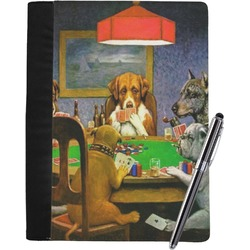 Dogs Playing Poker 1903 C.M.Coolidge Notebook Padfolio