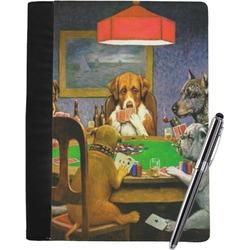 Dogs Playing Poker 1903 C.M.Coolidge Notebook Padfolio