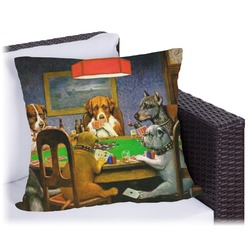 Dogs Playing Poker 1903 C.M.Coolidge Outdoor Pillow