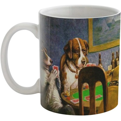 Dogs Playing Poker 1903 C.M.Coolidge Coffee Mug