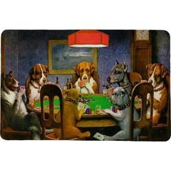 Dogs Playing Poker 1903 C.M.Coolidge Comfort Mat