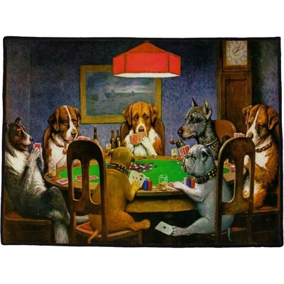 "Dogs Playing Poker by C.M.Coolidge Door Mat - 60""x36"""