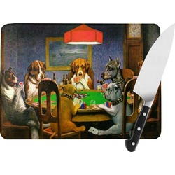 Dogs Playing Poker 1903 C.M.Coolidge Rectangular Glass Cutting Board