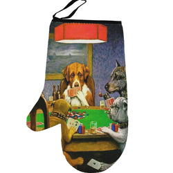Dogs Playing Poker 1903 C.M.Coolidge Left Oven Mitt