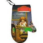Dogs Playing Poker by C.M.Coolidge Oven Mitt